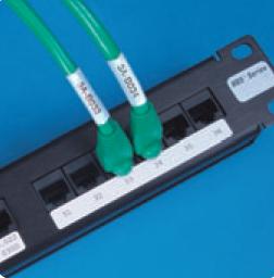 Этикетки LAT-43-707 и LAT-44-707 разработаны для идентификации патч-панелей.